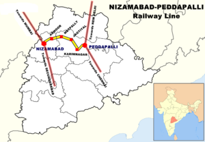 Nizamabad Junction railway station - Nizamabad Jn. Location