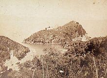 Il borgo e il promontorio in una foto di Alfred Noack databile al 1865