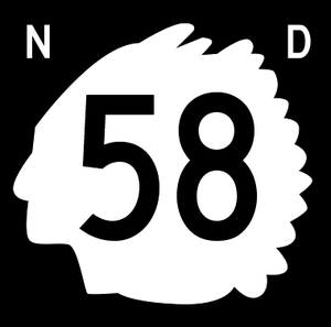 U.S. Route 85 - Image: North Dakota 58