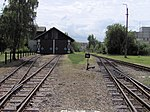Depot and the end of narrow gauge railway, Nová Bystřice, Jindřichův Hradec District, Czech Republic