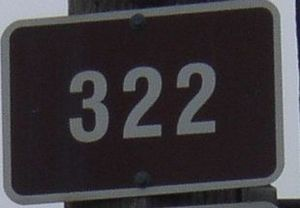 Nova Scotia Route 322 - Image: Nova Scotia Route 322 sign