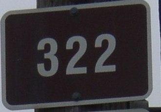 Nova Scotia Route 322 - Image: Nova Scotia Route 322 sign