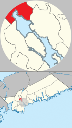 Location of Bedford in Halifax Regional Municipality