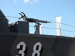 Madsen 20 mm cannon - A Madsen cannon aboard a Nuoli-class fast gunboat