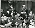 Nuremberg Trials defendants in the dock 1945.jpeg