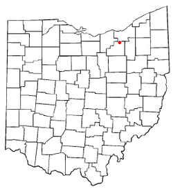 Location of Brunswick, Ohio