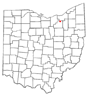 Brunswick, Ohio - Image: OH Map doton Brunswick