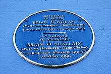 ONolan plaque, Strabane (02), January 2010.JPG