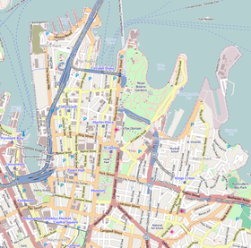 A map of the City of Sydney