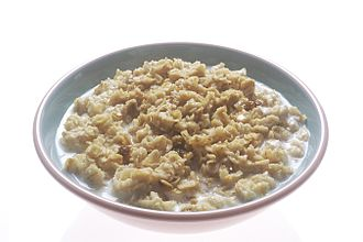 Beta-glucan - Oatmeal is a common food source of β-glucans