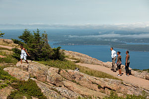 Cadillac Mountain - President Obama and the First Family at the summit of Cadillac Mountain on July 16, 2010.
