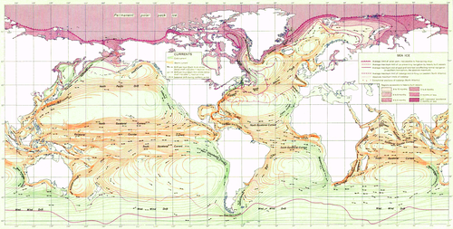 Ocean currents in 1943