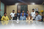 Odia Wikipedians at Sambad office during Odia Wikipedia 10.JPG
