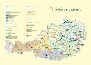 Nature park - Overview map of Austria's nature parks (image uploaded in 2010)