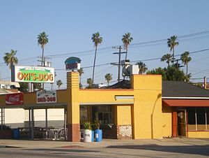 Mid-City, Los Angeles - Oki's Dog on Pico Blvd.