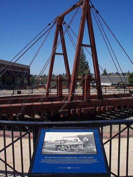 File:Old Turntable for Locomotives replica of the original, 1852 Folsom Depot, Calif..jpg