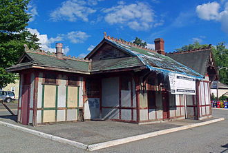 Waldwick station - Image: Old Waldwick, NJ, train station