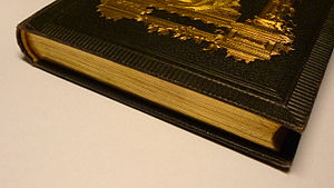 Gilding - Gilded page edges on a book.
