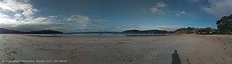 Waiheke Island - Panorama of Oneroa Beach on Waiheke Island