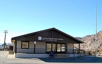 Onyx, California - Image: Onyx California post office