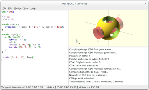 OpenSCAD Main Window