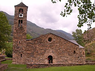 La Cortinada - Sant Martí de la Cortinada, a 12th-century Romanesque church in La Cortinada
