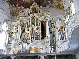 Roggenburg Abbey - Organ, originally by Schmahl