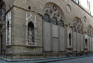 Saint Mark (Donatello) - The copy viewed at street level
