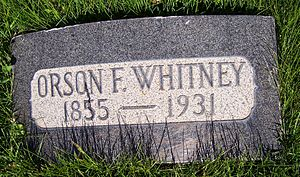 Orson F. Whitney - Grave marker of Orson F. Whitney.