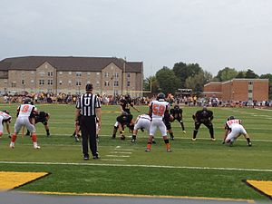 Ottawa Braves - The Braves Offense line up against rival Baker Wildcats on August 25, 2012.