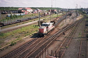 Oulu railway station - Image: Oulu rail yard July 2008 002
