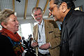Outi Ojala, Nordiska radets president Erkki Tuomioja och professor Jagdish N. Bhagwati vid globaliseringsmotet i Riksgransen 2008-04-09.jpg