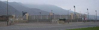 "Estadio Monumental ""U"" - View of the stadium from Avenida Javier Prado."