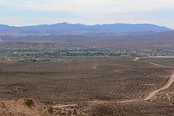 Overton seen from the edge of Mormon Mesa