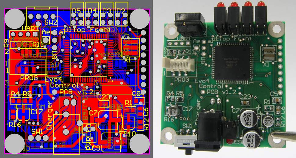 PCB design and realisation smt and through hole