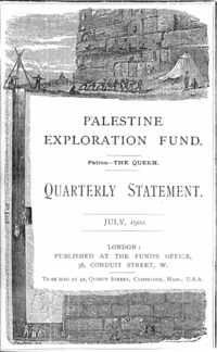 Palestinian Exploration Fund's Quarterly Statement, July 1900