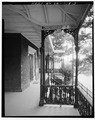 PERSPECTIVE VIEW OF FRONT PORCH - Robinson Stabler House, Washington and Madison Streets, Lynchburg, Lynchburg, VA HABS VA,16-LYNBU,113-3.tif