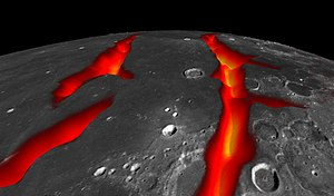 Internal structure of the Moon - Image: PIA18821 Lunar Grail Mission Oceanus Procellarum Rifts Closeup 20141001