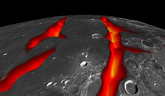 Near side of the Moon - Image: PIA18821 Lunar Grail Mission Oceanus Procellarum Rifts Closeup 20141001