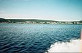 PORT HOPE FROM BACK OF RON'S BOAT 26TH JULY 2002 Port Hope Simpson Off The Beaten Path Llewelyn Pritchard.jpg