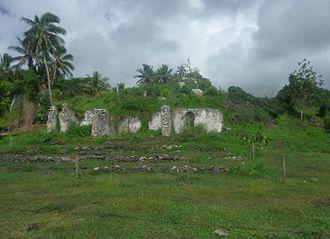 Pa Upoko Takau Ariki - The ruins of the old limestone Palace of Pa