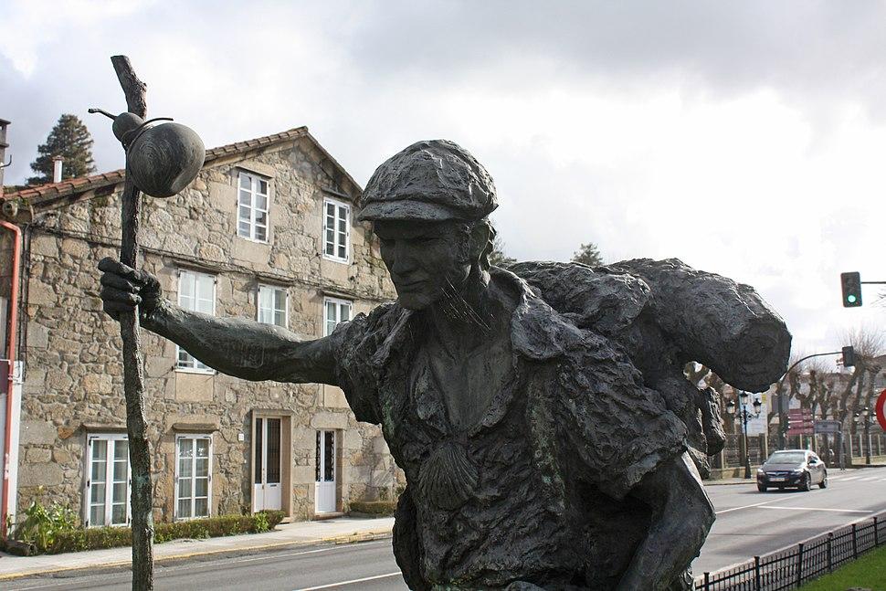 Monumento ó peregrino, en Padrón.