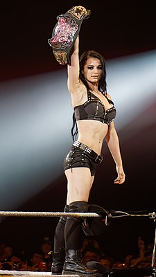 Paige, the current WWE Divas Champion. She is also a two-time champion and the youngest champion