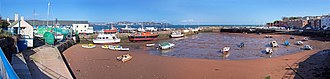Paignton - Paignton Harbour, with Torquay in the background