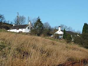 Habergham Eaves - Image: Pair of white houses geograph.org.uk 124139