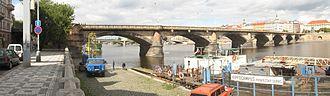 Palacký Bridge - Palacký Bridge, view from Hořejší nábřeží