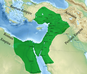 Palmyrene Empire - The Palmyrene Empire in AD 271.