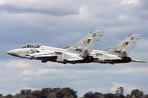 Panavia Tornado ADV - A pair of Tornado F.2s departing from RAF Fairford in 1985