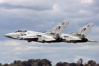 Panavia Tornado ADV - A pair of Tornado F.2s departing from RAF Fairford in 1985