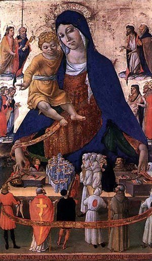 Lorenzo d'Alessandro - Panel of Madonna del Monte, Shrine in Madonna del Monte (Caldarola), 1491